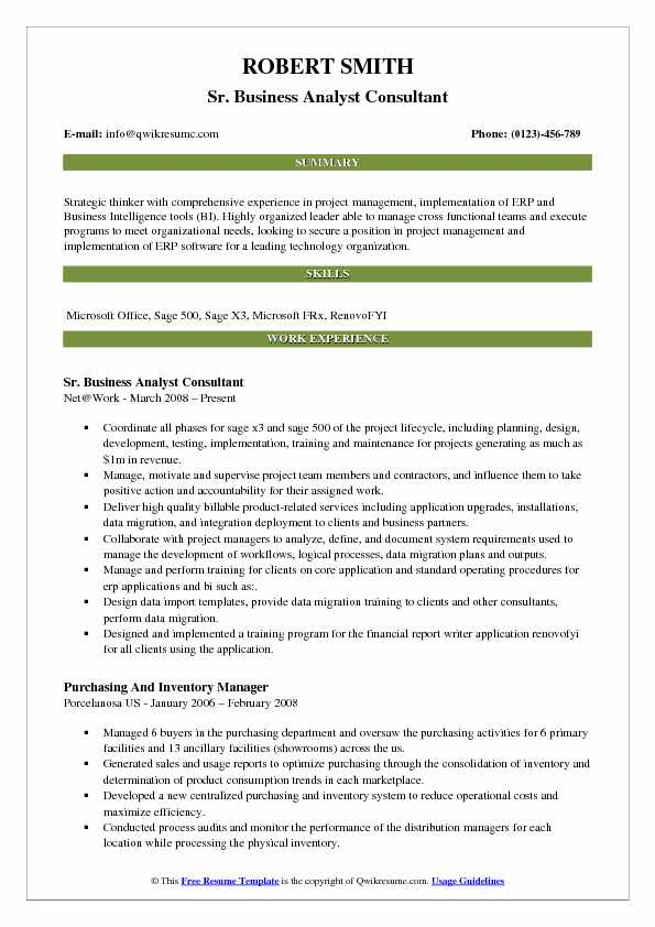 business analyst consultant resume samples qwikresume erp implementation format pdf Resume Erp Implementation Consultant Resume Format