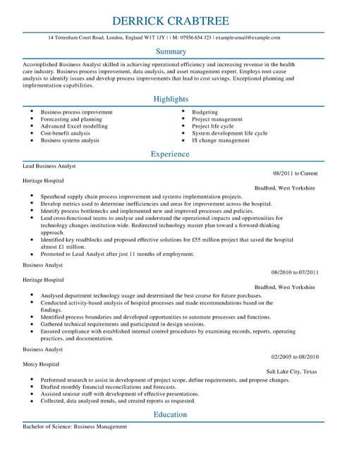 business analyst cv template samples examples lead resume full system administrator Resume Lead Business Analyst Resume