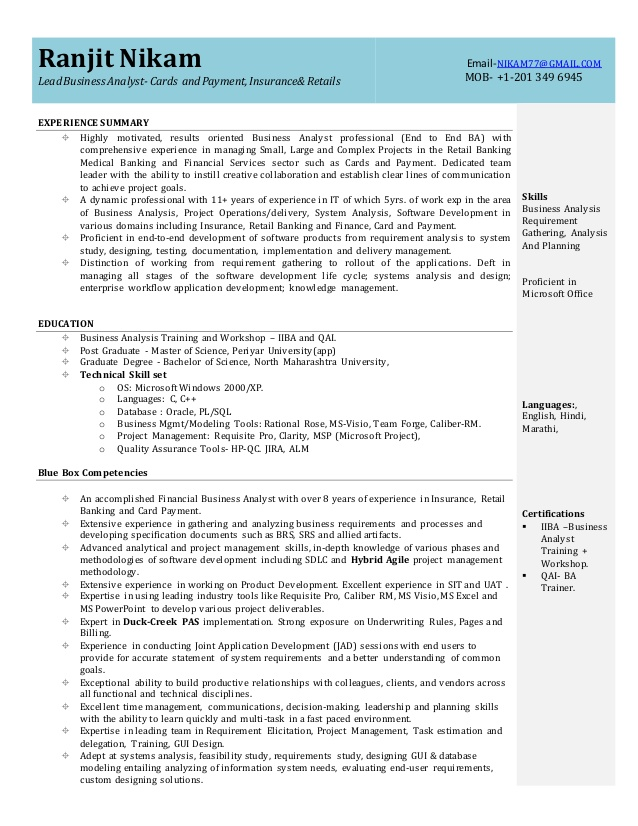 business analyst resume lead businessanalystresume system administrator objective Resume Lead Business Analyst Resume