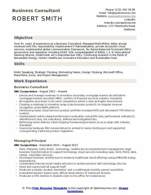 business consultant resume samples qwikresume balanced scorecard pdf nightlife structural Resume Resume Balanced Scorecard