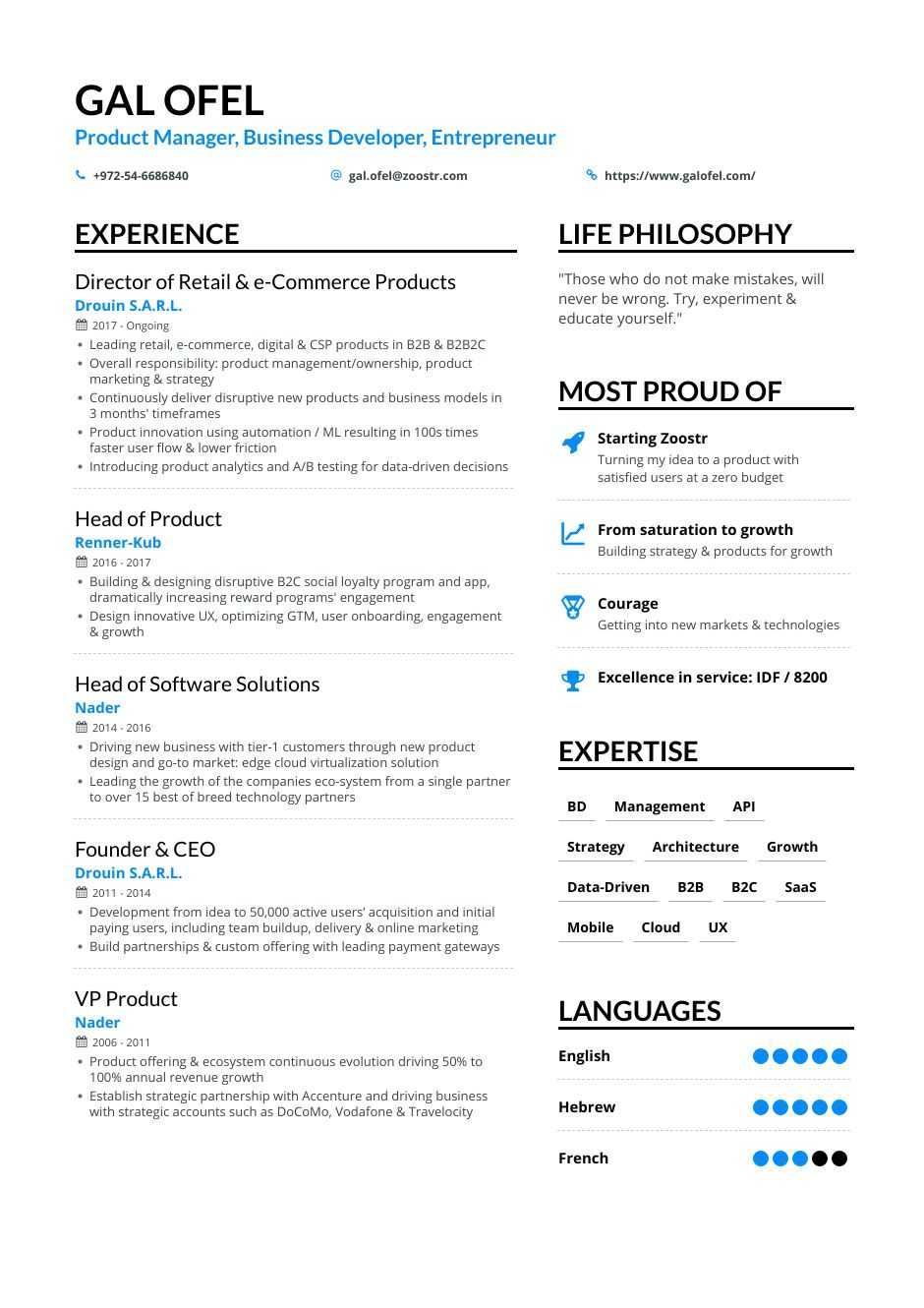 business development resume samples and writing guide for enhancv about yourself seo Resume About Yourself For Resume
