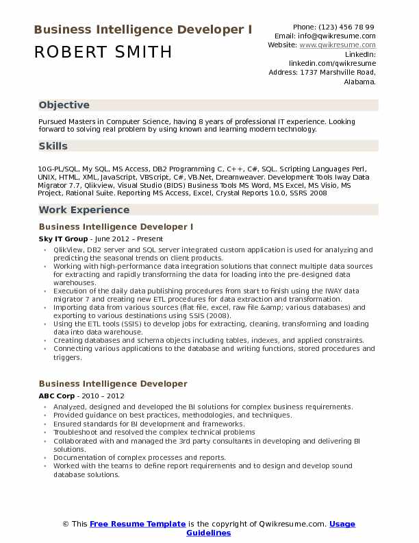 business intelligence developer resume samples qwikresume excel programmer pdf skills for Resume Excel Programmer Resume