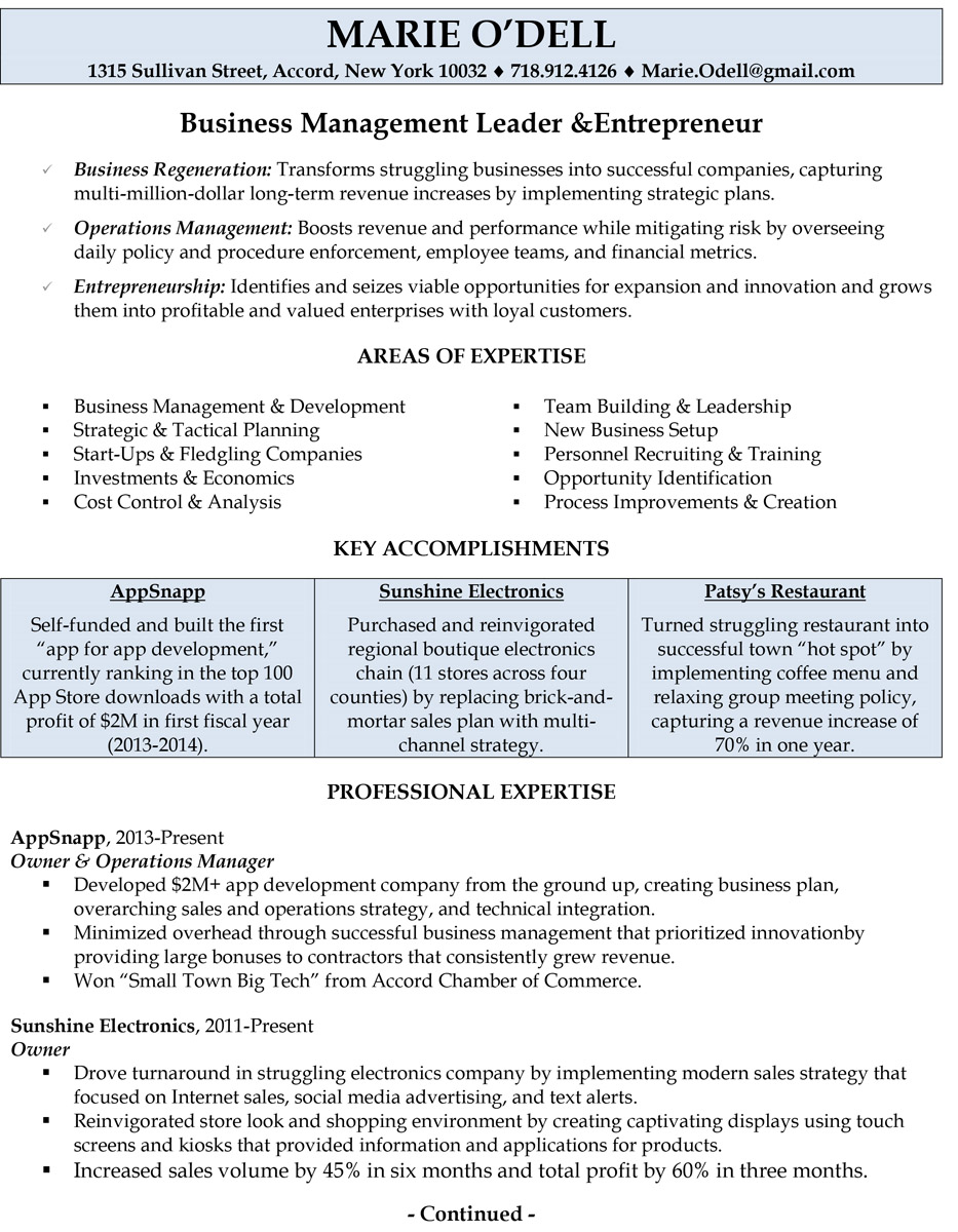 business owner entrepreneur resume examples wkz builder cancel fashion account executive Resume Entrepreneur Resume Examples