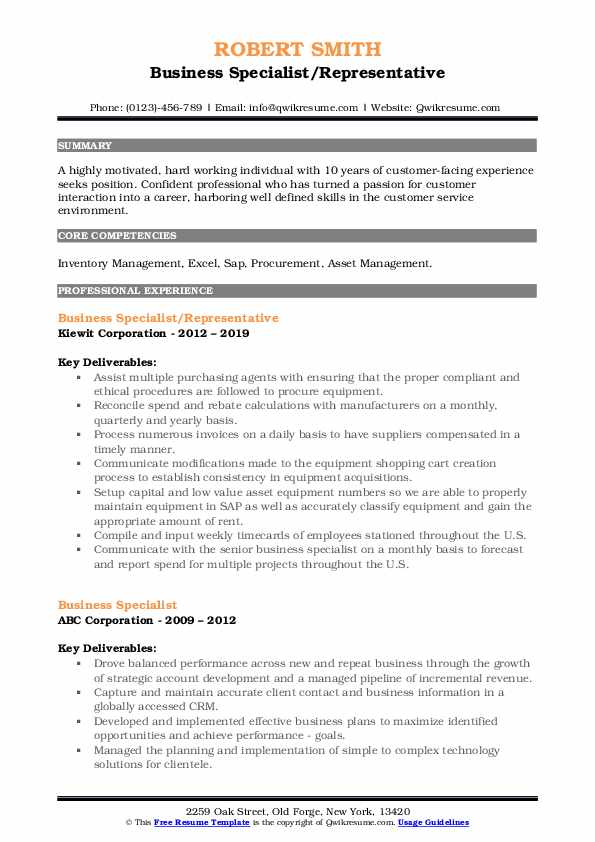 business specialist resume samples qwikresume pdf personal trainer template oracle upload Resume Business Specialist Resume