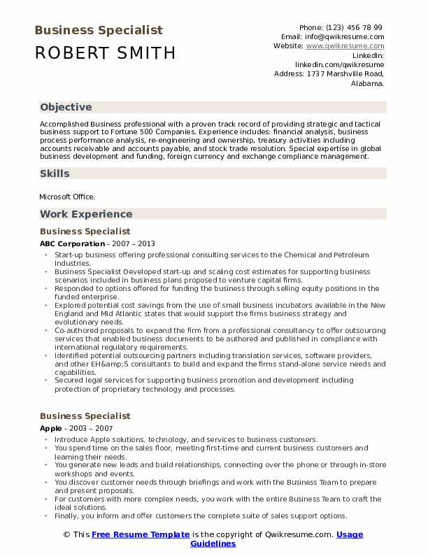 business specialist resume samples qwikresume pdf staff auditor sample operations manager Resume Business Specialist Resume