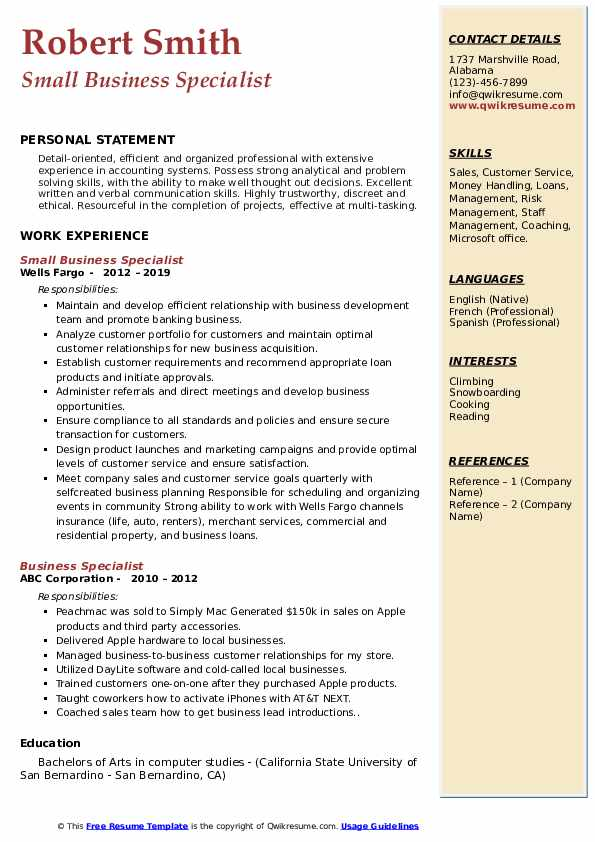 business specialist resume samples qwikresume pdf targeted example oracle upload pastry Resume Business Specialist Resume