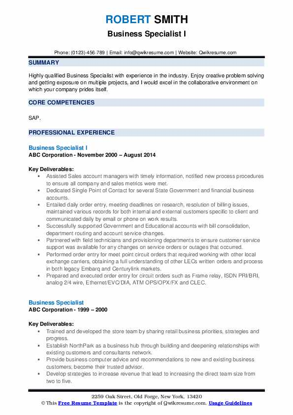 business specialist resume samples qwikresume pdf when did commercial flights after staff Resume Business Specialist Resume