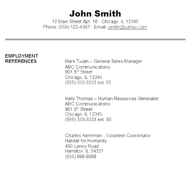 by resumes references format resume production assistant examples for ats smallest font Resume Resume References Format