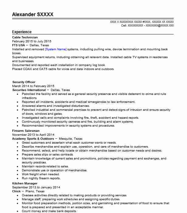 cable technician resume example livecareer voice and data janitor job description for Resume Voice And Data Technician Resume