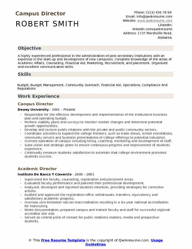 campus director resume samples qwikresume format for placement pdf food prep duties Resume Resume Format For Placement