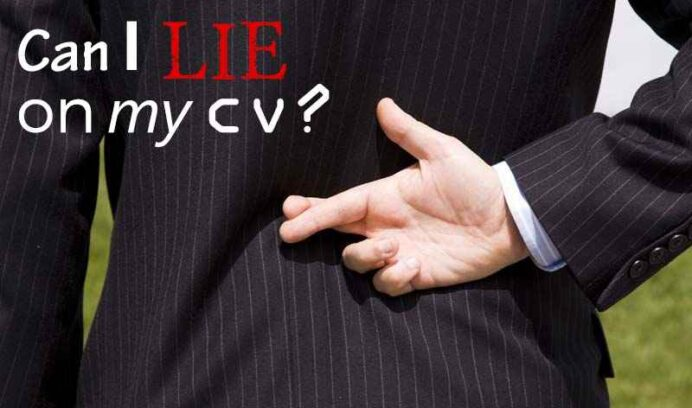 can you lie on your cv when it okay to bend the truth résumé template master resume my Resume Can You Lie On A Resume