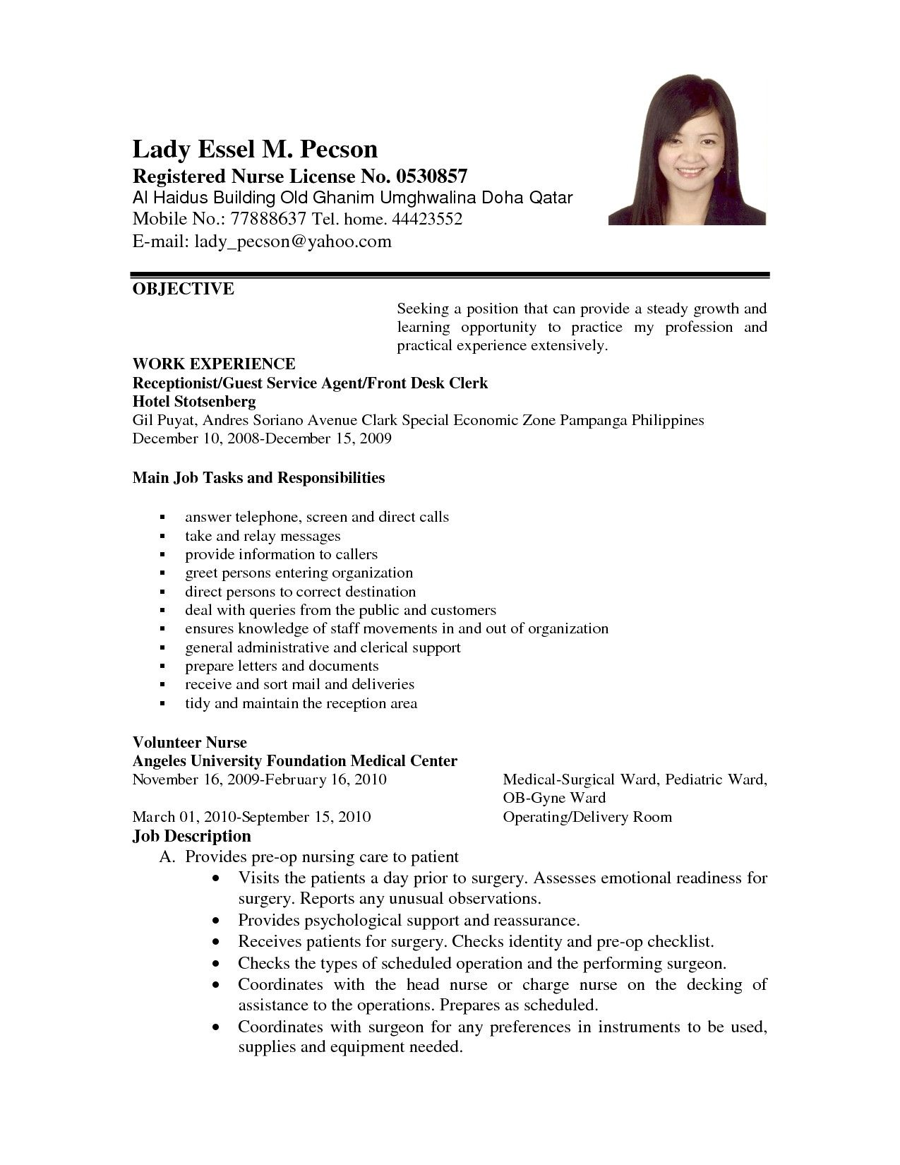 career objective resume examples awesome example applying for job of object cover letter Resume Image Of Resume For Job Application