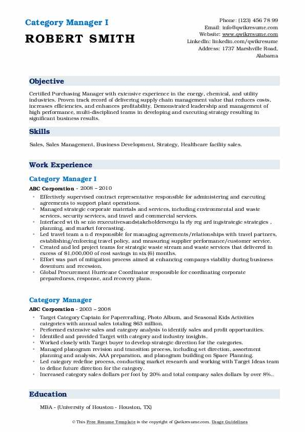 category manager resume samples qwikresume categories skills pdf process operator for Resume Resume Categories Skills