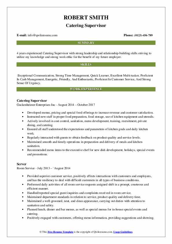catering supervisor resume samples qwikresume boss pdf financial services objective Resume Catering Camp Boss Resume
