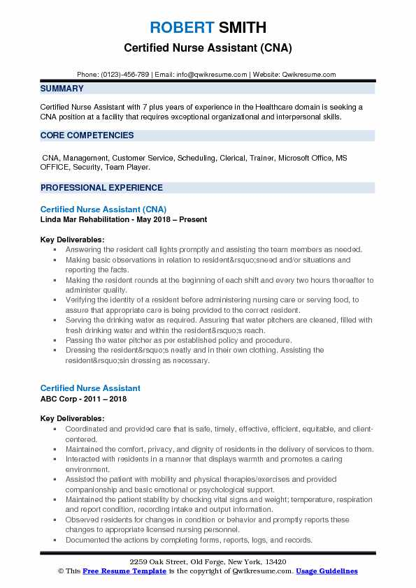 certified nurse assistant resume samples qwikresume cna examples pdf most accepted format Resume Cna Resume Examples 2018