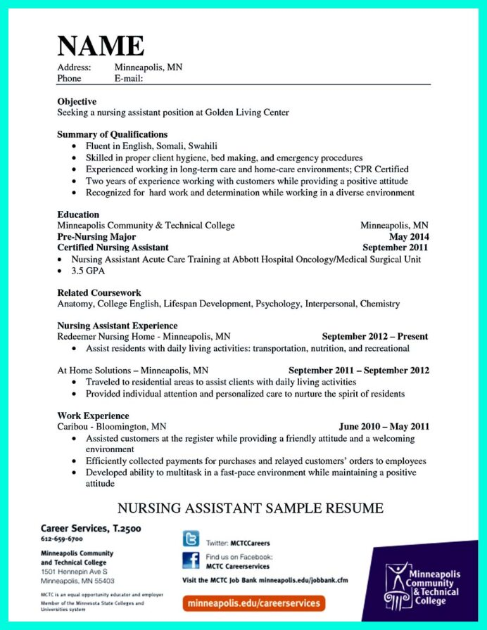 certified nursing assistant cna resume examples with experience best readwritethink Resume Cna Resume Examples 2018
