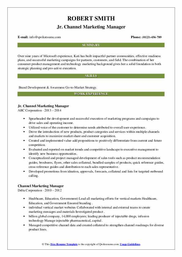channel marketing manager resume samples qwikresume pdf data scientist summary electrical Resume Channel Marketing Resume
