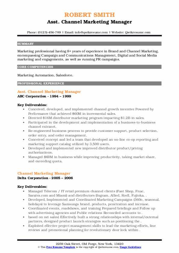 channel marketing manager resume samples qwikresume pdf executive professional template Resume Channel Marketing Resume