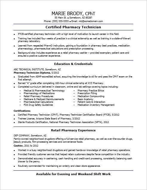 check out this sample resume for an entry level pharmacy technician study fun samples Resume Entry Level Pharmacy Technician Resume Samples