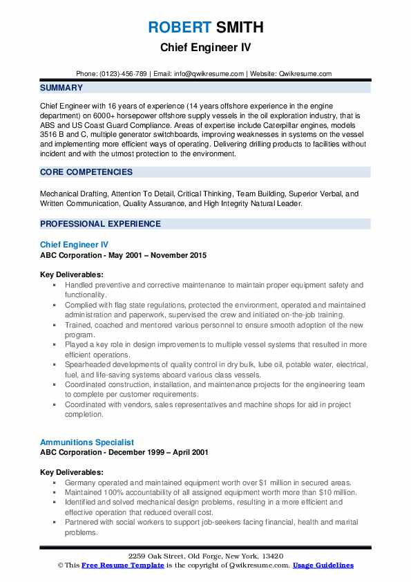 chief engineer resume samples qwikresume cover letter format for marine pdf salesforce Resume Cover Letter Format For Resume For Marine Engineer