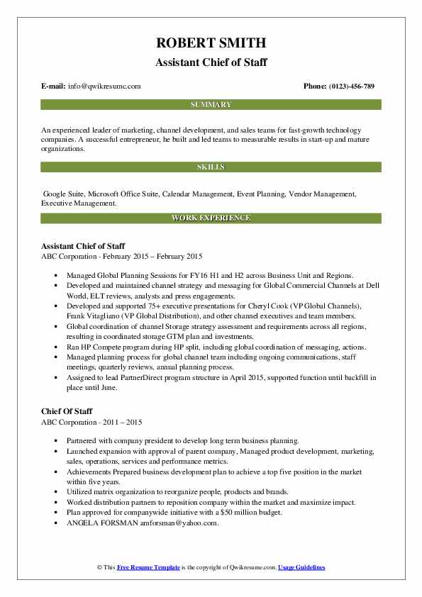 chief of staff resume samples qwikresume job pdf summary for career change specific fnp Resume Chief Of Staff Job Resume
