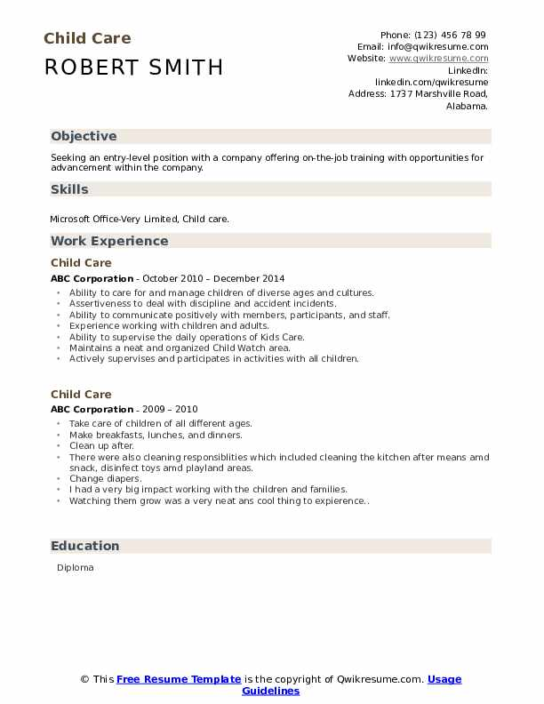 child care resume samples qwikresume daycare objective pdf millennial format after first Resume Daycare Resume Objective