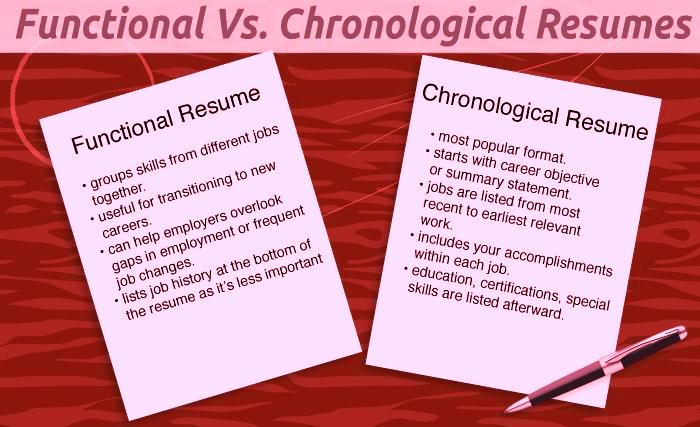 chronological vs functional resumes which to choose resume Resume Functional Vs Chronological Resume