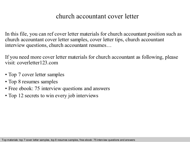 church accountant cover letter sample ministry resume and think read write generator Resume Sample Ministry Resume And Cover Letter