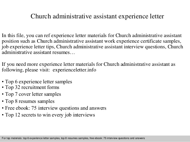 church resume cover letter for position free user guide pastoral administrative assistant Resume Resume For Pastoral Position