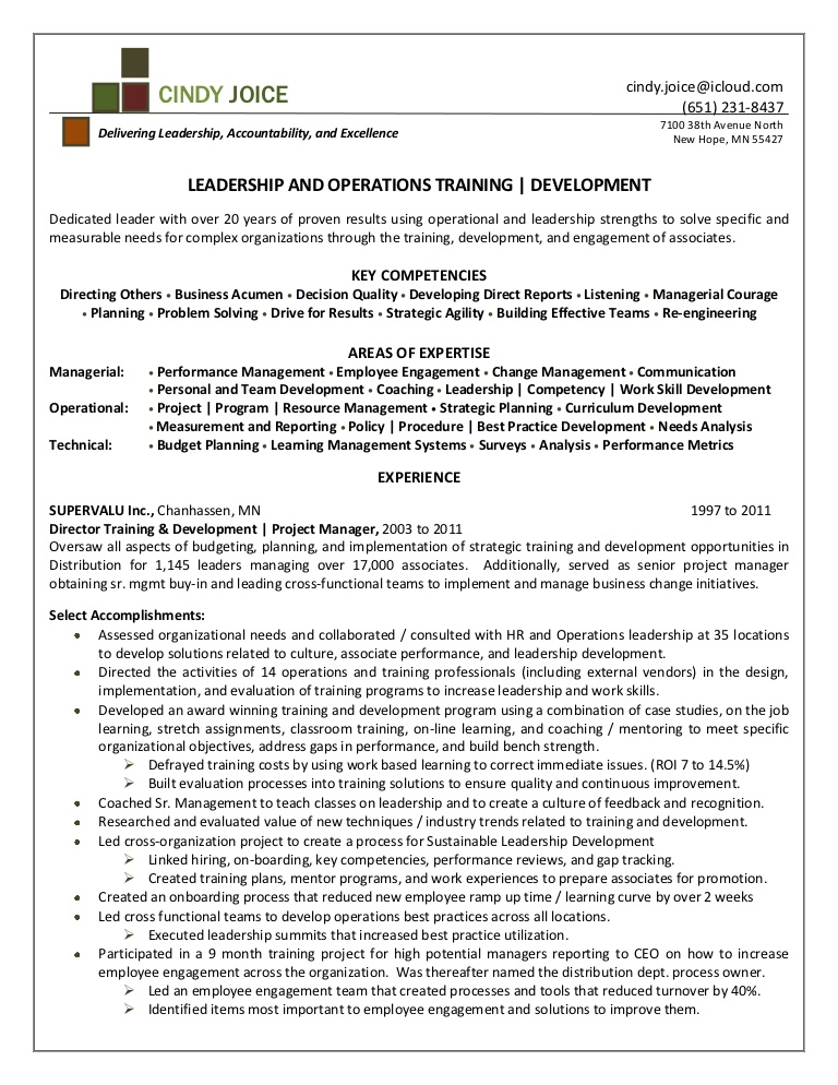 cindy joice resume for director of training and development employee engagement Resume Employee Engagement Coordinator Resume