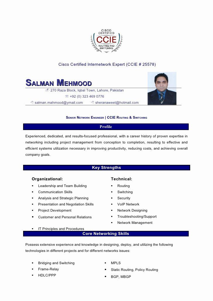 cisco network engineer resume best of salman mahmood ccna sample for experience cnc Resume Ccna Sample Resume For Experience