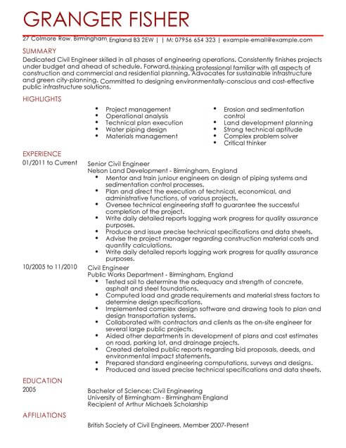 civil engineer cv template samples examples best resume sample full product manager bus Resume Best Civil Engineer Resume Sample