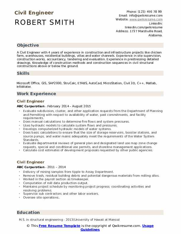 civil engineer resume samples qwikresume format pdf best free sites fonts annotated Resume Civil Engineer Resume Format