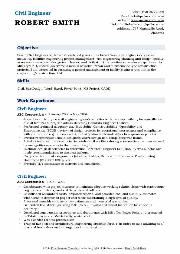 civil engineer resume samples qwikresume of experienced pdf detailed for nurses zety Resume Resume Of Experienced Civil Engineer