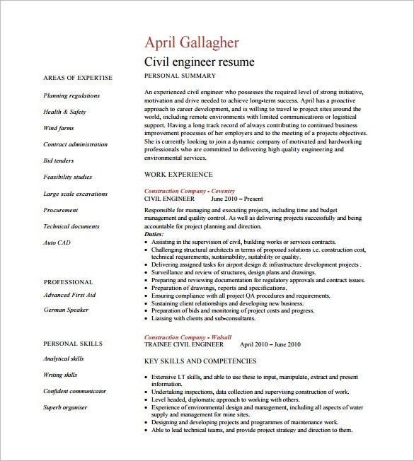 civil engineer resume templates pdf free premium of experienced analysis using machine Resume Resume Of Experienced Civil Engineer