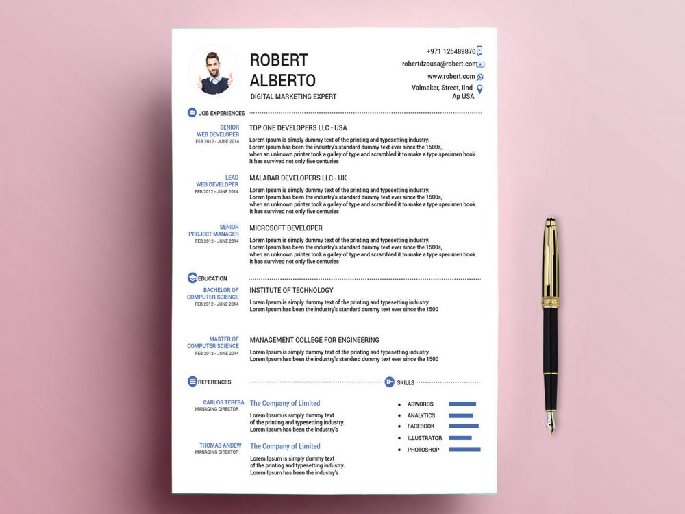 classic resume template free with formats resumekraft templates 1000x750 game of throne Resume Resume Templates 2019 Download