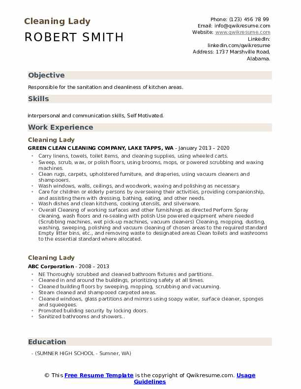 cleaning lady resume samples qwikresume home sample pdf best career objective for bpm Resume Home Cleaning Resume Sample