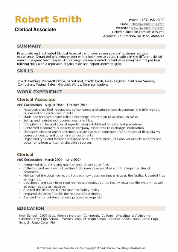 clerical resume samples qwikresume experience on pdf training examples summary for Resume Clerical Experience On Resume