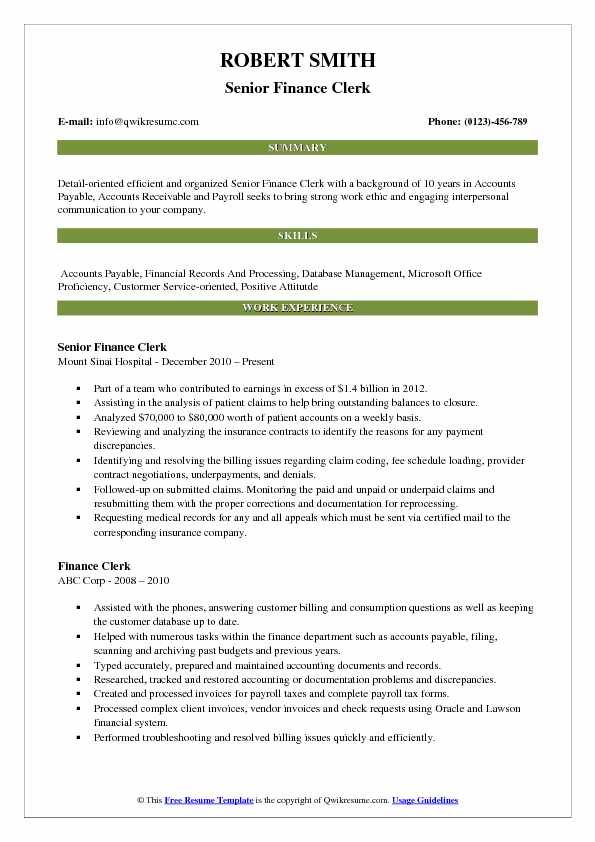 clerk resume samples examples and tips keywords for clerical finance pdf current now Resume Keywords For Clerical Resume