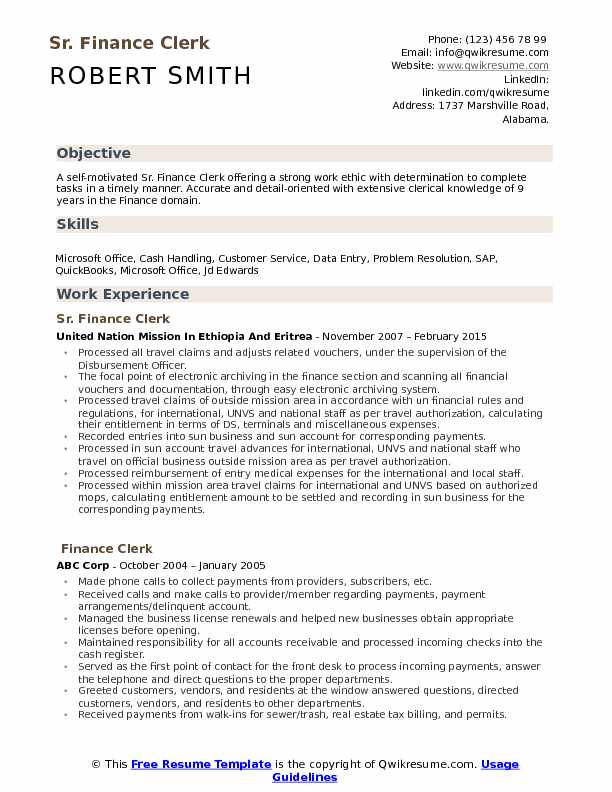 clerk resume samples examples and tips keywords for clerical finance pdf statement Resume Keywords For Clerical Resume