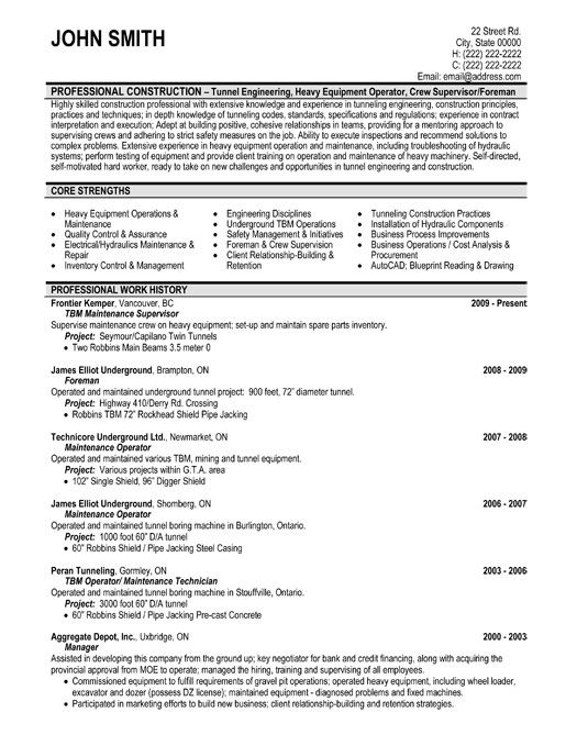 click here to this maintenance supervisor resume template templates word job examples Resume Sample Resume For Meter Reader