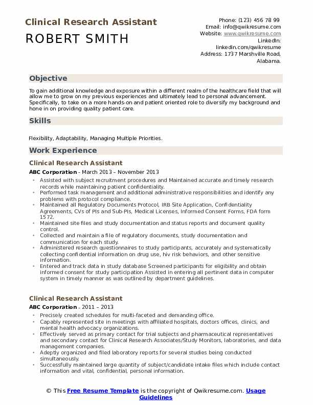 clinical research assistant resume samples qwikresume format for freshers pdf Resume Clinical Research Resume Format For Freshers