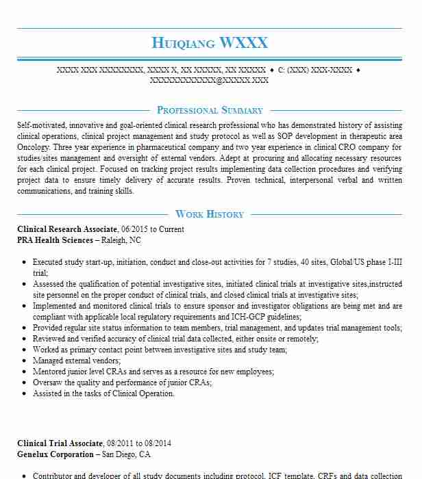 clinical research associate cv template best resume examples executive assistant tasks Resume Clinical Research Associate Resume
