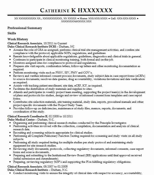 clinical research associate resume example resumes misc livecareer template indeed won Resume Clinical Research Associate Resume Template