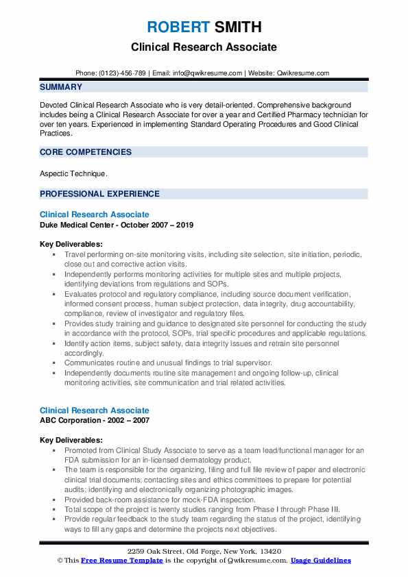 clinical research associate resume samples qwikresume format for freshers pdf google docs Resume Clinical Research Resume Format For Freshers