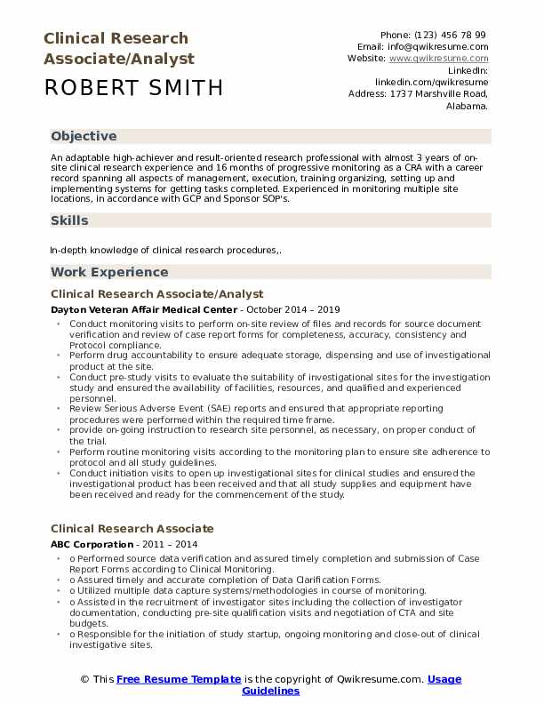 clinical research associate resume samples qwikresume format for freshers pdf typical Resume Clinical Research Resume Format For Freshers