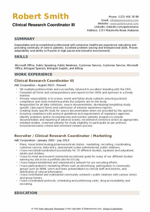 clinical research coordinator resume samples qwikresume format for freshers pdf typical Resume Clinical Research Resume Format For Freshers