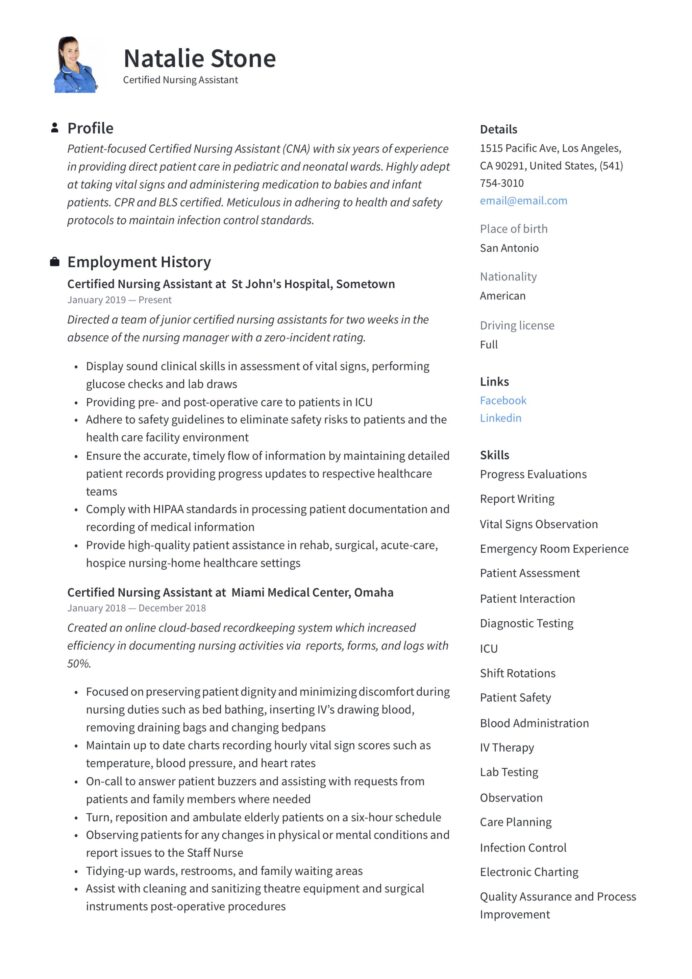 cna resume examples technical support specialist production worker sample checkpoint Resume Cna Resume Examples 2018