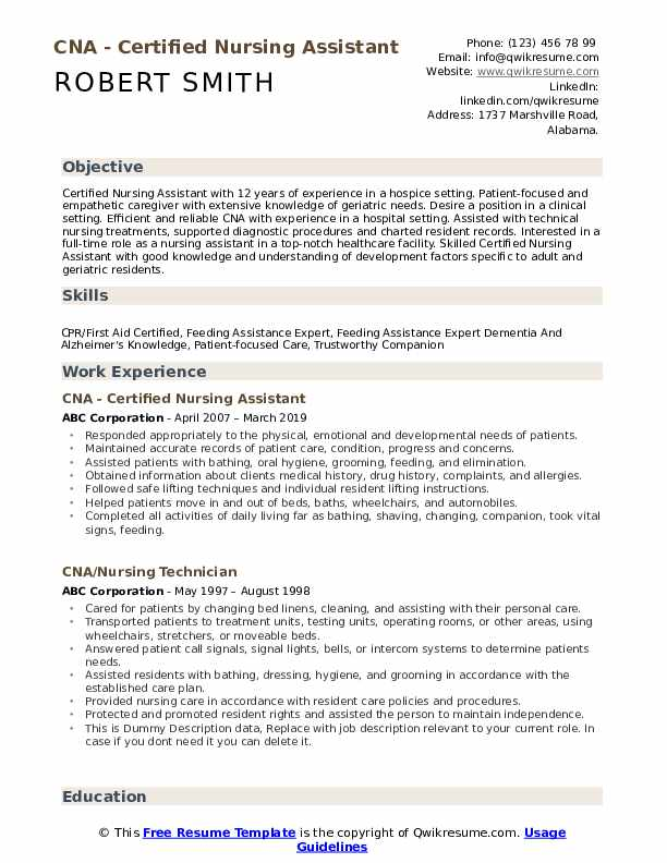 cna resume samples qwikresume description duties pdf sample easy free center director Resume Cna Description Duties Resume