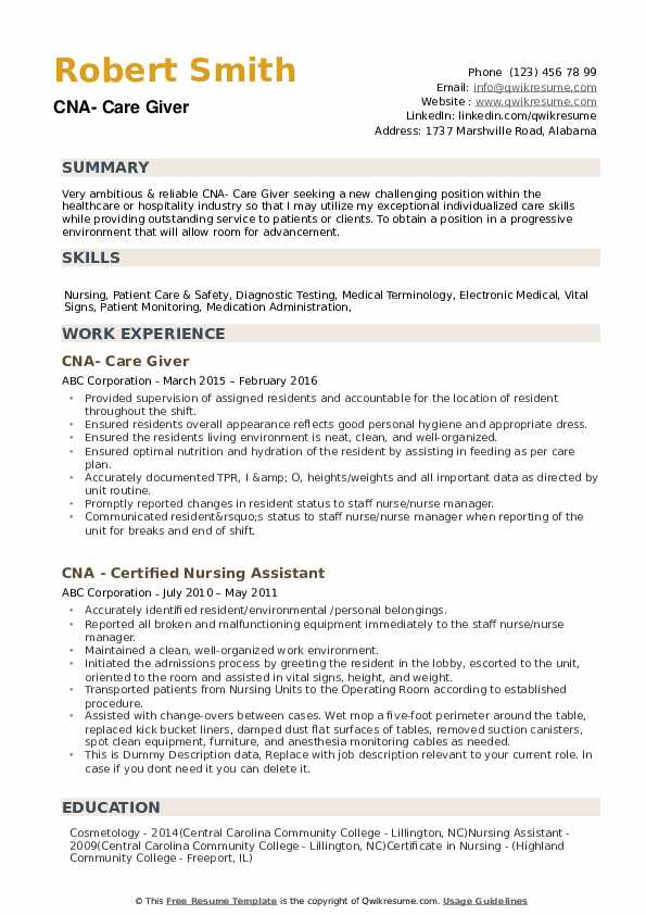 cna resume samples qwikresume examples pdf personal assistant example sample summary Resume Cna Resume Examples 2018